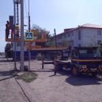 Установка светофора на федеральной М-21